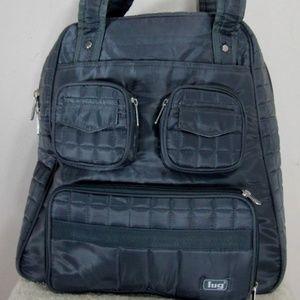 LUG Quilted Puddle Jumper Weekender Bag Gray